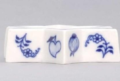 Cibulák Svícen plochý hvězda 9 cm originální cibulákový porcelán Dubí, cibulový vzor, 1.jakost