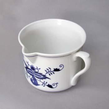 Cibulák Hrnek Vařák velký s hubičkou s bočním uchem 0,90 l originální cibulákový porcelán Dubí, cibulový vzor 1. jakost