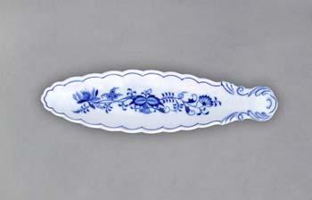 Cibulák Miska na olivy kanoe 21,7 cm originální cibulákový porcelán Dubí, cibulový vzor 1. jakost