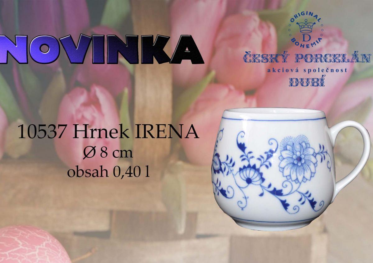 Porcelán Cibulák hrnek Baňák 0,30 l originální cibulákový porcelán Dubí, cibulový vzor 1. jakost 20002