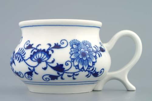 Cibulák Hrnek Joe 0,48 l originální cibulákový porcelán Dubí, cibulový vzor 1. jakost