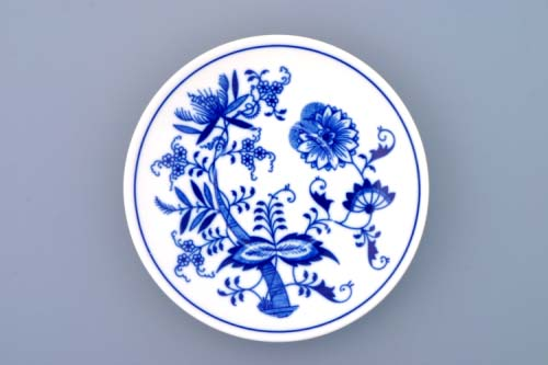 Cibulák Podšálek Baňák 15,5 cm originální cibulákový porcelán Dubí, cibulový vzor 1. jakost