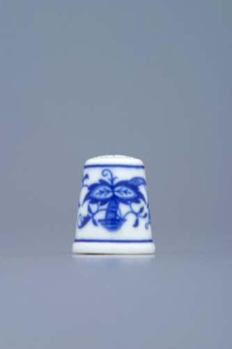 Cibulák Náprstek 2,7cm originální cibulákový porcelán Dubí, cibulový vzor 1. jakost