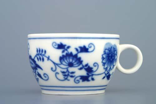 Cibulák Šálek AERO 0,13 l originální cibulákový porcelán Dubí, cibulový vzor 1. jakost