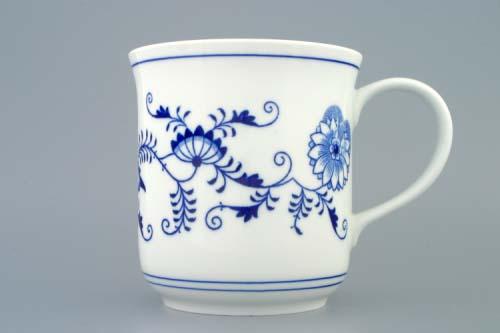 Cibulák Hrnek Golem 1,50 l, originální cibulákový porcelán Dubí, cibulový vzor 1. jakost
