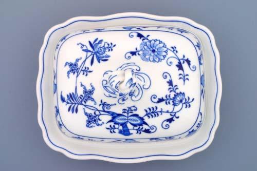 Cibulák Mísa ragout s víkem 0,40 l originální cibulákový porcelán Dubí, cibulový vzor 1. jakost