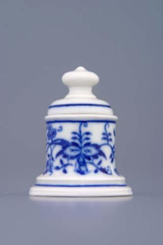 Cibulák Dóza na špendlíky s víčkem 5,2 cm originální cibulákový porcelán Dubí, cibulový vzor, 1.jakost