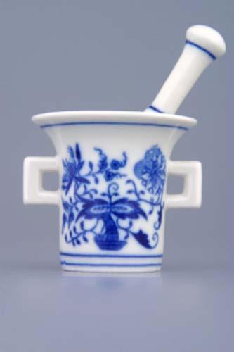Cibulák Hmoždíř mini komplet 5,8 cm originální cibulákový porcelán Dubí, cibulový vzor, 1.jakost