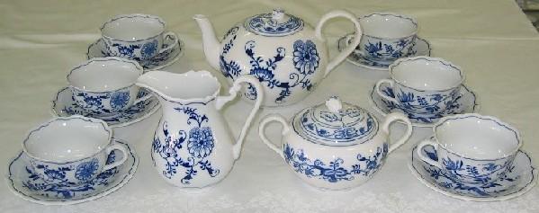 Cibulák souprava sada čajová C1, Dubí 70507 pro 6 osob 15 dílů