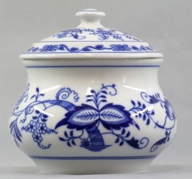 Cibulák Dóza zeleninová s víkem 0,50 l originální cibulákový porcelán Dubí, cibulový vzor 1. jakost