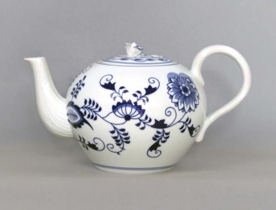 Cibulák konvice čajová s víčkem 2 l originální cibulákový porcelán Dubí, cibulový vzor, 1.jakost 70655
