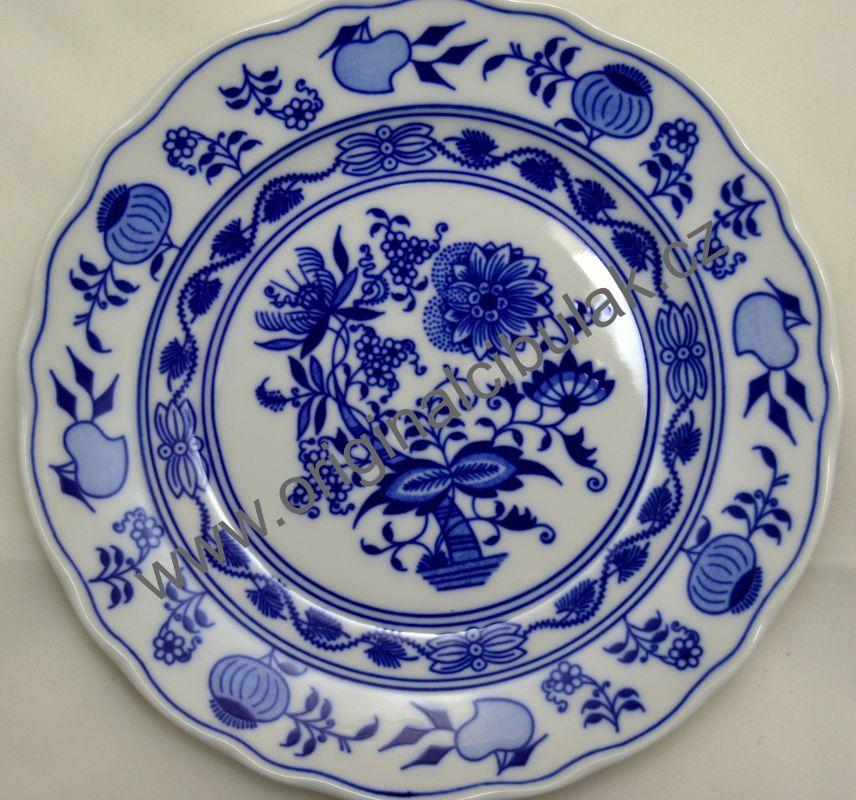 Talíř Cibulák dezertní 19 cm originál cibulový porcelán Dubí 2.jakost