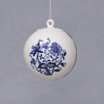 Cibulák Vánoční koulička 5,8 cm originální cibulákový porcelán Dubí, cibulový vzor 1. jakost 10635-65