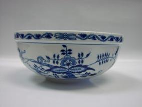 Cibulák Mísa kulatá malá 17 cm originální cibulákový porcelán Dubí, cibulový vzor, 2.jakost