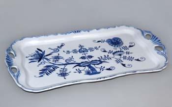 Cibulák Podnos Aida obdélníkový 45 cm originální cibulákový porcelán Dubí, cibulový vzor 1. jakost