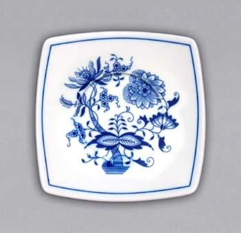 Cibulák Podšálek Vito zrcadlový 13 cm originální cibulákový porcelán Dubí, cibulový vzor 1. jakost