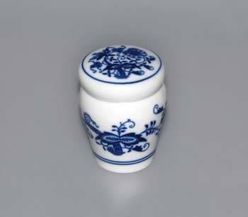 Cibulák dózička s těsněním uzávěr bajonet 0,10 l originální cibulákový porcelán Dubí, cibulový vzor, 1.jakost