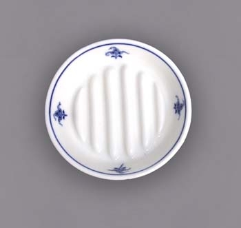 Cibulák Hygienická souprava mýdelníček 12,5 cm originální cibulákový porcelán Dubí, cibulový vzor 1. jakost 10676