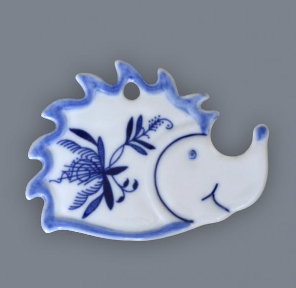 Cibulák Magnetka ježek 6 cm originální cibulákový porcelán Dubí, cibulový vzor, 1.jakost 70720