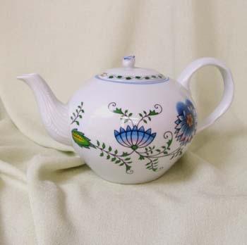 Konvice čajová se sítkem s víčkem 1,2 l NATURE barevný cibulák, cibulový porcelán Dubí 1.jakost