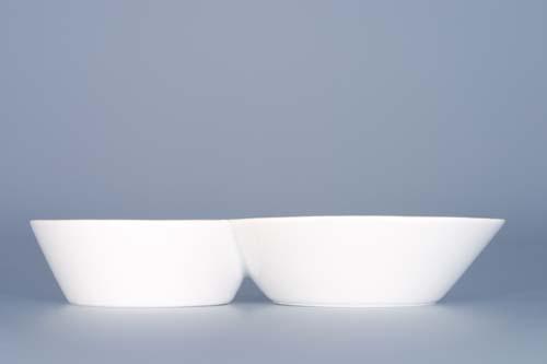 Dvojpodšálek ( káva,čaj ) Bohemia White - design prof. arch. Jiří Pelcl, cibulový porcelán Dubí 1. jakost