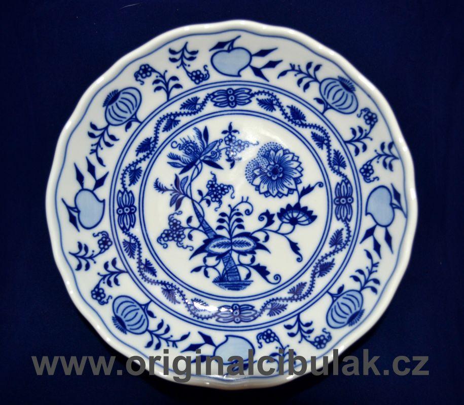 Cibulák mísa kompotová 16 cm , originální cibulákový porcelán Dubí, cibulový vzor, 2.jakost