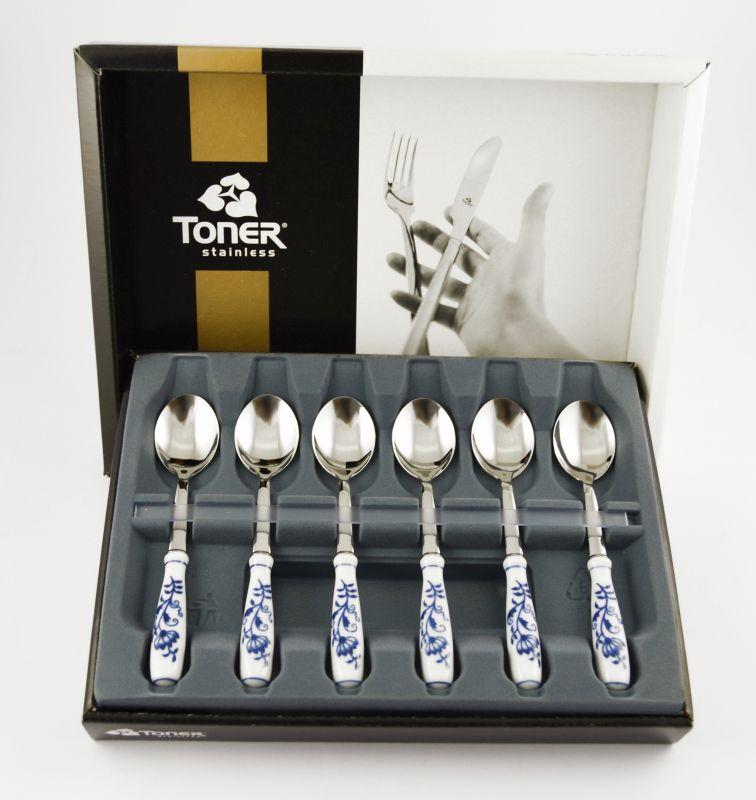 Cibulák lžička na kávu 15 cm souprava sada 6 ks Toner cibulák 1. jakost cibulákové příbory 63706