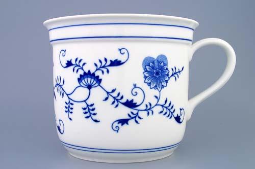 Cibulák Hrnek Český s 1 uchem 3,0 l, originální cibulákový porcelán Dubí, cibulový vzor, 1.jakost