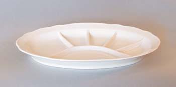 Talíř porcelán bílý dělený 35 cm Český porcelán Dubí 1. jakost 10447b