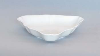 Mísa porcelán bílý salátová tříhranná 19,5 cm Český porcelán Dubí1.jakost