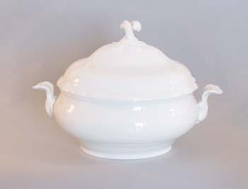 Mísa porcelán bílý polévková oválná s víkem s výřezem 3 l Český porcelán Dubí 1. jakost 70082b