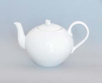 Konvice porcelán bílý čajová s víčkem 1,2 l Český porcelán Dubí 1. jakost 70029b