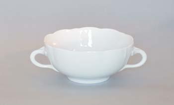 Šálek bujón porcelán bílý s 2 oušky, 0,30 l Český porcelán Dubí 1.jakost 10015b