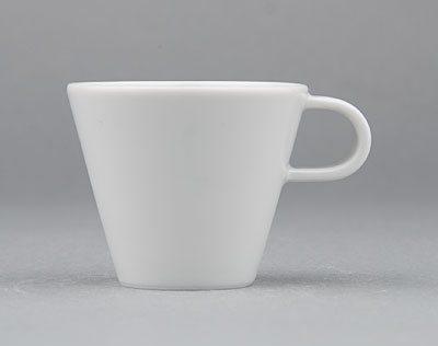 Šálek porcelánový bílý Hotelový na mocca espresso 0,05l Český porcelán Bohemia 1.jakost 10515h