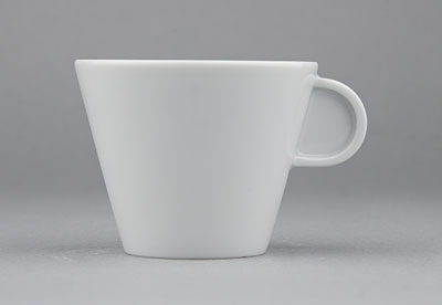 Šálek porcelánový bílý Hotelový na kávu 0,13l Český porcelán Bohemia 1.jakost 10516h
