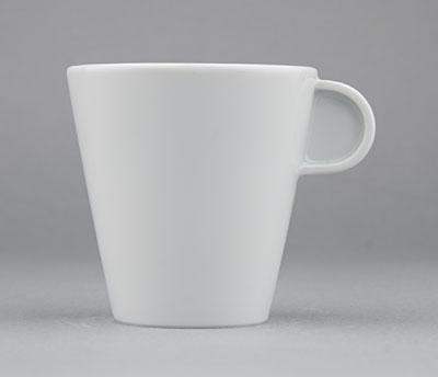 Šálek porcelánový bílý Hotelový na čaj 0,18l Český porcelán Bohemia 1.jakost 10517h