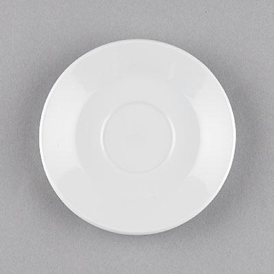 Podšálek porcelánový bílý Hotelový pod kávu čaj 14,5cm Český porcelán Bohemia 1.jakost 10522h