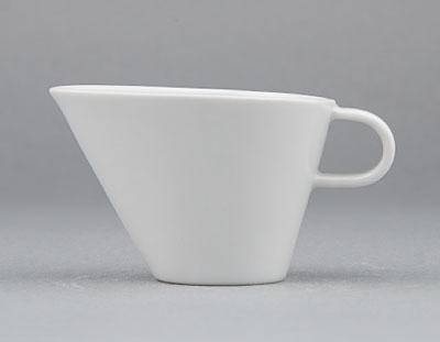 Omáčník porcelánový bílý Hotelový s hubičkou malý 0,06l Český porcelán Bohemia 1.jakost 10531h