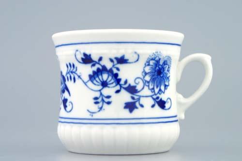 Cibulák hrnek Perlový malý 0,26 l originální cibulákový porcelán Dubí, cibulový vzor, 1.jakost 10121-2