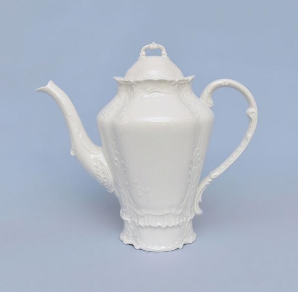 Konvice kávová porcelánová bílá Opera 1,2 l Český porcelán Dubí 71001