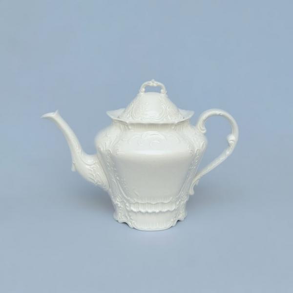 Konvice čajová porcelánová bílá Opera 1,2 l Český porcelán Dubí 71002