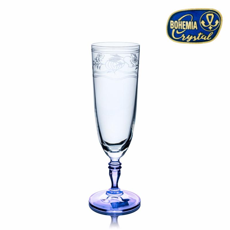 Cibulák skleničky 220 ml Gloria flétna na šampaňské Crystalex CZ 40733/220