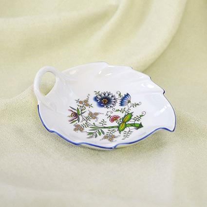 Mísa list 15 cm, NATURE barevný cibulák, cibulový porcelán Dubí 1.jakost