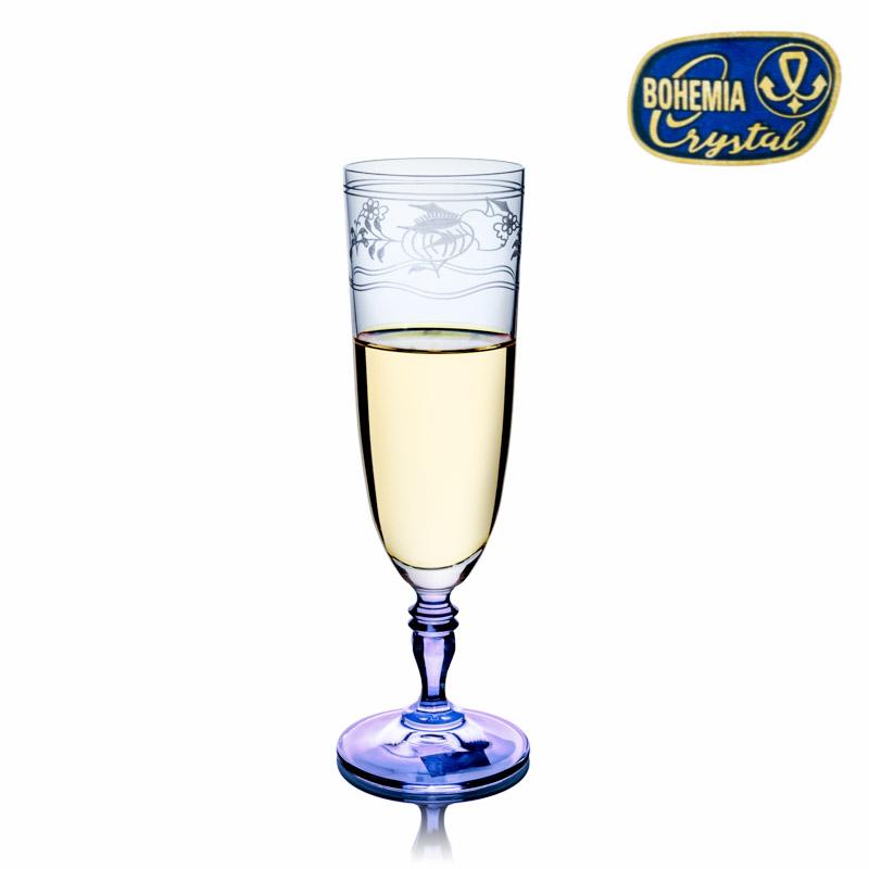 Skleničky na víno 220 ml 6 ks Gloria flétna na šampaňské Crystalex Cibulák K0210 40733/220