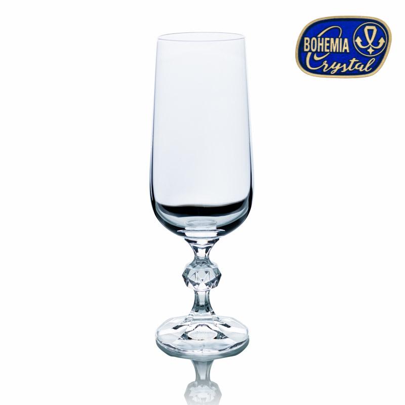 Skleničky na víno šampaňské Claudia 180 ml 6 ks Crystalex CZ 40149/180