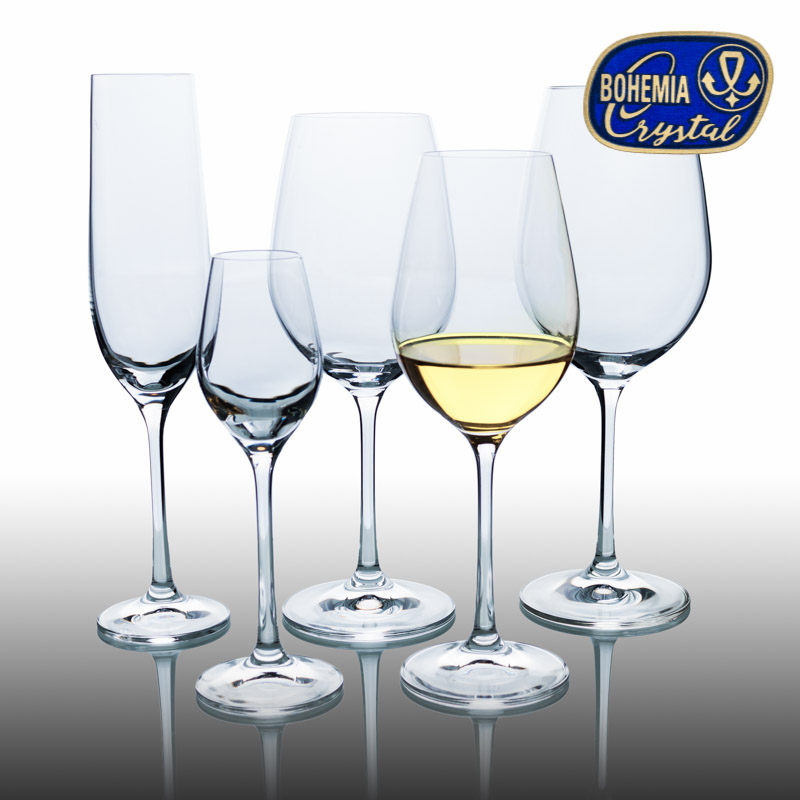 Skleničky na víno bílé Viola 350 ml 6 ks Crystalex CZ