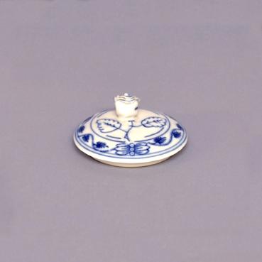 Víčko bez výřezu k cibulákové cukřence 0,20 l originální cibulákový porcelán Dubí, cibulový vzor 1. jakost
