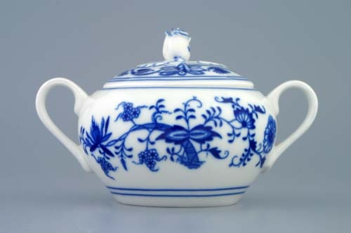 Cukřenka s oušky 0,30 l - tělo - originální cibulákový porcelán Dubí, cibulový vzor 1. jakost