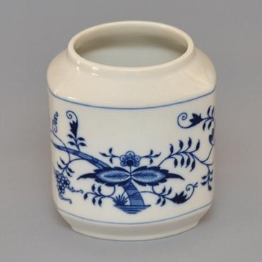 Dóza na poživatiny - tělo 1,1 l originální cibulákový porcelán Dubí, cibulový vzor, 1. jakost 10742