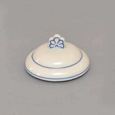 Víko k dóze na poživatiny 1,1 l originální cibulákový porcelán Dubí, cibulový vzor, 1. jakost